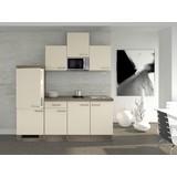 Küchenblock Eico 210 cm Magnolie - Eichefarben/Magnolie, MODERN, Holzwerkstoff (210cm) - MID.YOU