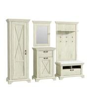 Garderobe Kashmir B: 265 cm - Weiß/Pinienfarben, Basics, Holzwerkstoff/Kunststoff (265/210,6/46,2cm)