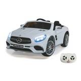 Kinderauto Ride-On Mercedes-Amg Sl 65 Weiß - Silberfarben/Schwarz, Basics, Kunststoff (119,5/75/42cm)