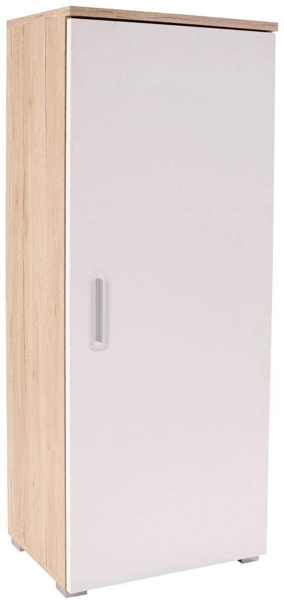 Szekrény Livorno New - tölgy színű/fehér, konvencionális, faanyagok (60/142/38cm)