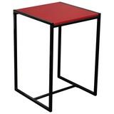 Beistelltisch Bali - Rot/Schwarz, MODERN, Holzwerkstoff/Metall (39/58/39cm)