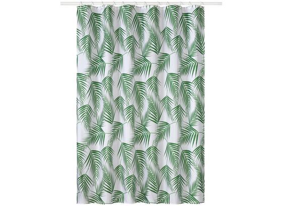 Záves Do Sprchovacieho Kúta Lenara - biela/tmavozelená, Trend, textil (180/200cm) - Mömax modern living
