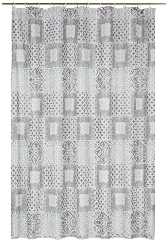 Sprchový Závěs Marrakesh - bílá/šedá, Lifestyle, textil (180/200cm) - Mömax modern living