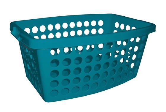 Ruháskosár Carmen - Olajkék, konvencionális, Műanyag (56/39/22cm) - Plast 1