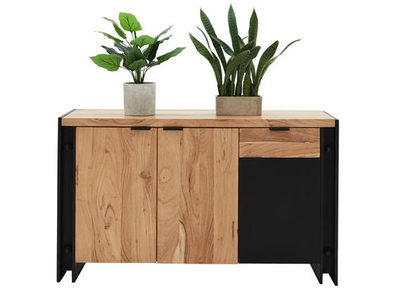 Komoda Sideboard Construction - prírodné farby/čierna, Štýlový, drevo/kompozitné drevo (135/80/40cm) - Zandiara