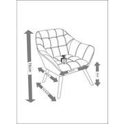 Kreslo Monique - svetlosivá, Moderný, kov/drevo (83/76/74,5cm) - MODERN LIVING