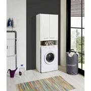 Überbauregal Wash B: 65cm, Weiß - Weiß, KONVENTIONELL, Holzwerkstoff (65/185,3/38cm)