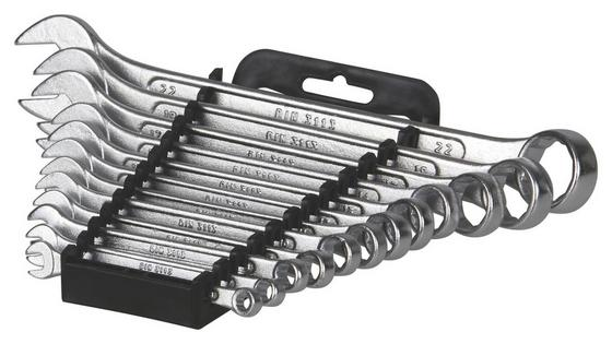 Gabelringschlüsselsatz Farell 12-teilig - Silberfarben, KONVENTIONELL, Metall