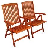 Gartensessel-Set Sun Flair 2-Teilig - Braun, Basics, Holz (59/105/61cm) - Ambia Garden