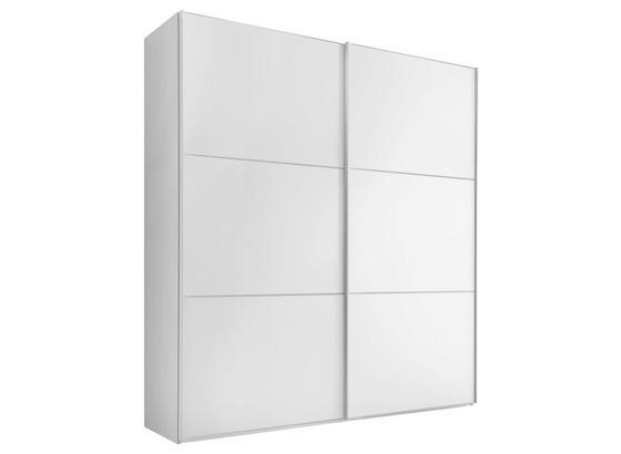 Schwebetürenschrank 188 cm Includo, Weiß - Weiß, MODERN, Glas/Holzwerkstoff (188/222/68cm) - Bessagi Home