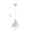 Závesná Lampa Nessaja - biela, Moderný, kov (21,5/130cm) - Modern Living