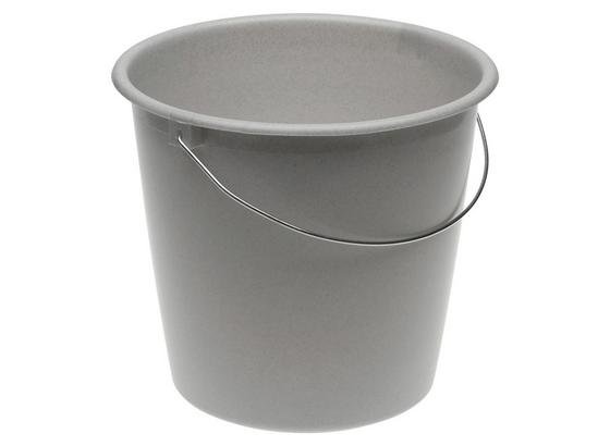 Eimer Fjonna 10 L - Grau, Kunststoff (28,5/26cm)