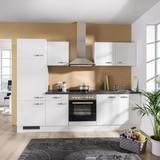 Küchenblock Alba 270 cm Weiß - Schieferfarben/Weiß, MODERN, Holzwerkstoff (270cm)