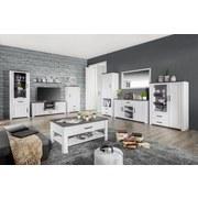 Wohnkombination Provence 1 - Wengefarben/Weiß, ROMANTIK / LANDHAUS, Holzwerkstoff (329/200/42cm) - James Wood