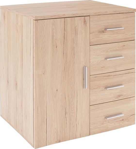 Komoda Trio - barvy dubu, Moderní, dřevěný materiál (80/86/50cm)