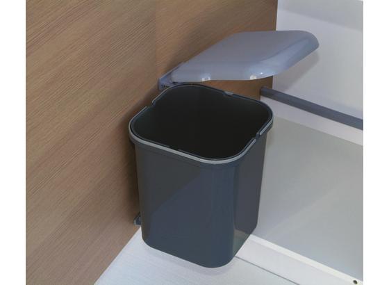 Abfalleimer Dunkelgrau 15 Liter - Dunkelgrau, Basics, Kunststoff (28/28/35cm) - HKT