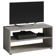 TV-Regal Vancouver B: 90 cm Betongrau - Schwarz/Grau, KONVENTIONELL, Holzwerkstoff (90/45/39cm) - MID.YOU