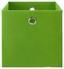 Skládací Krabice Fibi -ext- -top-based- - zelená, Moderní, kov/karton (30/30/30cm) - Based