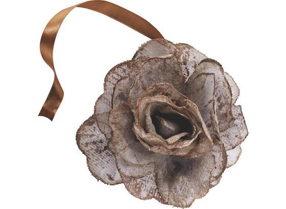 Dekoračná Spona Rose - biela/ružová, Romantický / Vidiecky, textil (11cm) - Mömax modern living