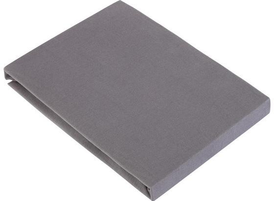 Napínacie Prestieradlo Basic - sivá, textil (100/200cm) - Mömax modern living