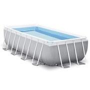 Schwimmbecken-Set Poolset 244 L: 488 cm - Weiß/Grau, Basics, Kunststoff (488/244/122cm)