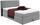 Boxspringbett Allegra 140x200 Hellgrau - Hellgrau/Schwarz, KONVENTIONELL, Holz/Holzwerkstoff (140/200cm)