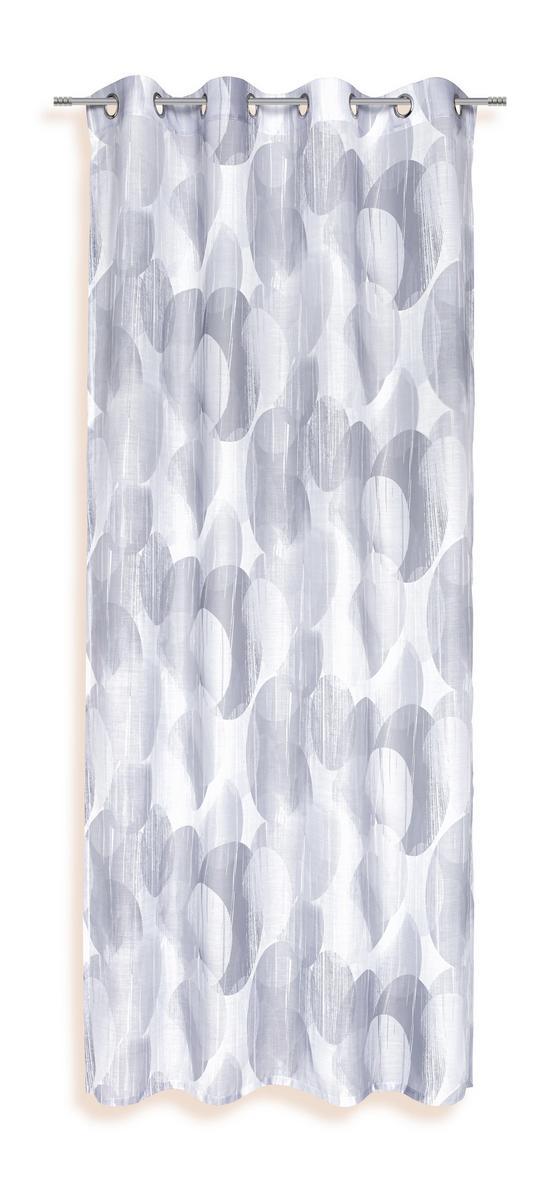 Ösenvorhang Susan - Silberfarben, KONVENTIONELL, Textil (135/245cm) - Ombra