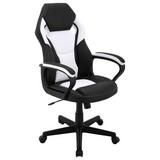 Gamingstuhl Manta B: ca. 60cm Schwarz/Weiß - Schwarz/Weiß, MODERN, Kunststoff/Textil (60/103/65cm) - MID.YOU