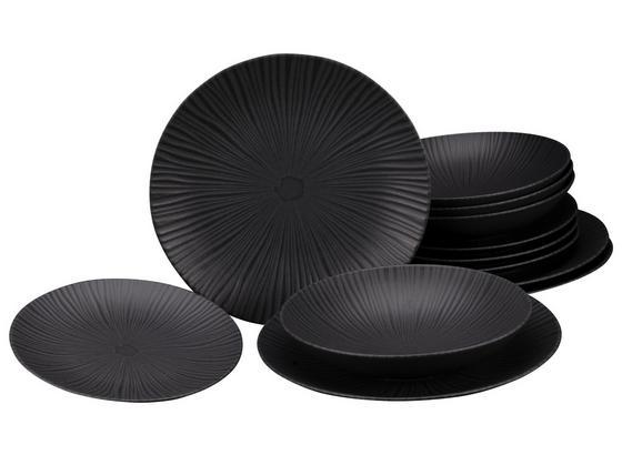 Tafelservice Vesuvio Black 23211 - Schwarz, Basics, Stein (31,5/31,5/38cm)
