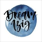 Dekopaneel Dream Big - Blau/Schwarz, Holz/Holzwerkstoff (29/29cm)