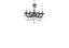 Függőlámpa Lexi - krómszínű, konvencionális, műanyag/fém (128cm) - OMBRA