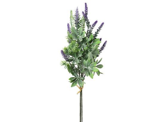 Kunstpflanze Lavendelbusch Lavenia - Lila/Grau, Natur, Kunststoff (65cm)
