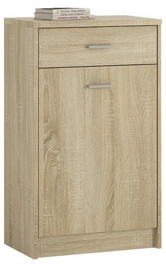 Komoda 4-you Yuk02 - Sonoma dub, Moderní, dřevěný materiál (50/85,4/35,2cm)