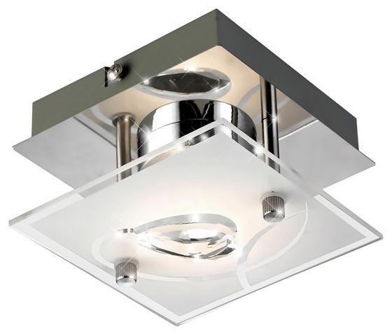 LED-Deckenleuchte Alexa - Silberfarben, MODERN, Glas/Metall (10/10/7,6cm)