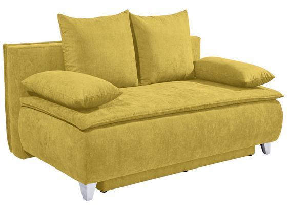 Pohovka Boxspring Marlene - žltá, Moderný, drevo/textil (208/100/106cm) - Luca Bessoni