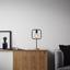Stolová Lampa Mauricio - čierna, Moderný, kov/drevo (18/15/30cm) - Modern Living