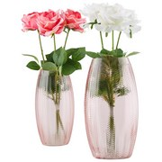 Vase Alfa - Hellrosa, Basics, Glas (14/25cm) - Luca Bessoni