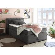 Boxspringbett Bilbao 1 ca. 120x200 cm - Grau, KONVENTIONELL, Holzwerkstoff/Textil (120/200cm) - Carryhome
