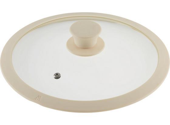 Poklice Marmor - krémová, Romantický / Rustikální, umělá hmota/sklo (24cm) - Premium Living