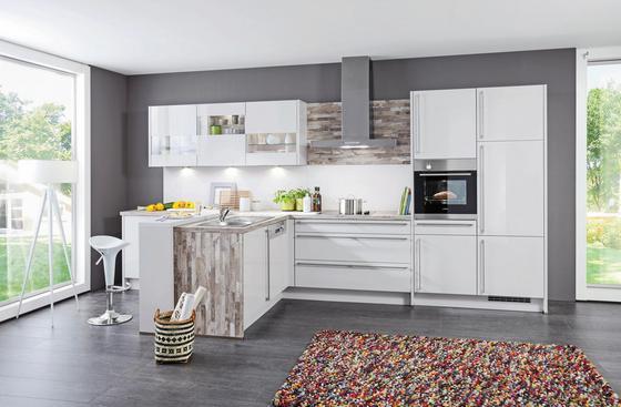 Kuchyně Na Míru Florenz - bílá/barvy stříbra, Moderní, kompozitní dřevo