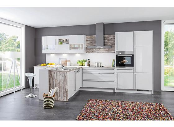 Kuchyně Na Míru Florenz - bílá/černá, Moderní, kompozitní dřevo