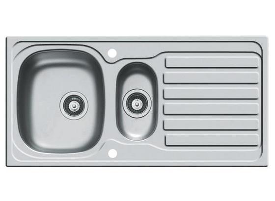 Spüle Mod. Sparta 1,5 - Edelstahlfarben, Design, Metall (100/50cm)