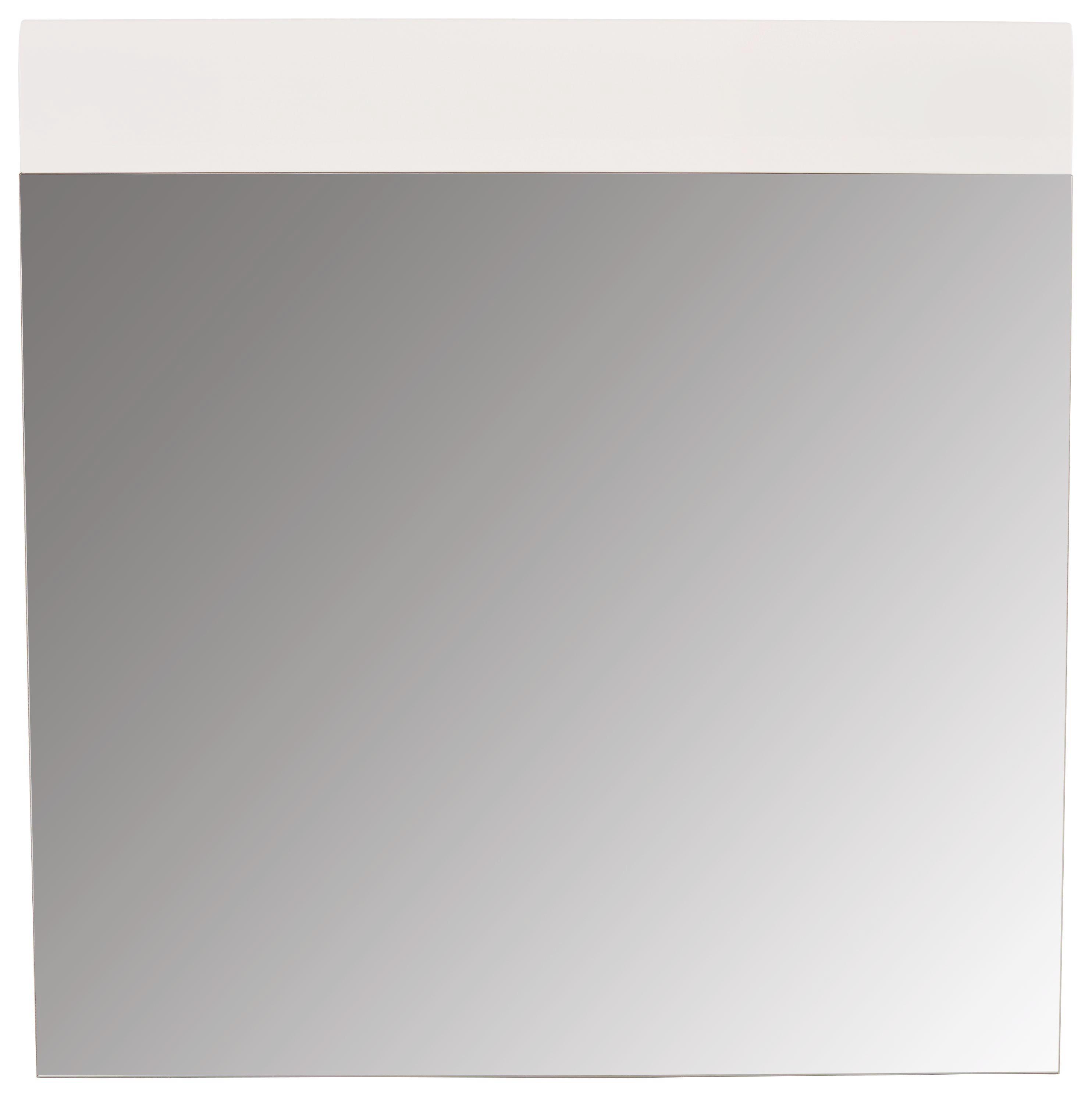 Tükör Avensis - tölgy színű/fehér, modern, faanyagok (85/87/2cm) - LUCA BESSONI