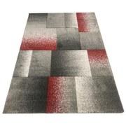 Webteppich Grau/Rot Palermo 160x230 cm - Rot/Grau, MODERN, Textil (160/230cm)