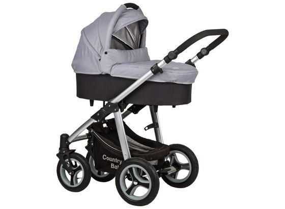 Kinderwagen Country Baby Gra/Schwarz - Hellgrau/Schwarz, MODERN, Textil/Metall (84/60,5/47cm)