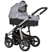 Kinderwagen Country Baby Grau/Schwarz - Hellgrau/Schwarz, MODERN, Textil/Metall (84/60,5/47cm)