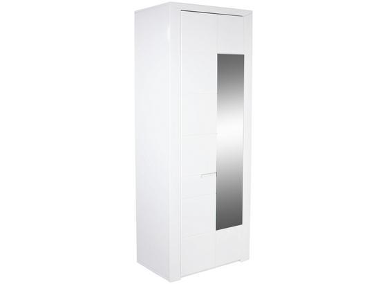 Šatníková Skriňa Bree - biela, Moderný, kompozitné drevo (85/203/38cm)