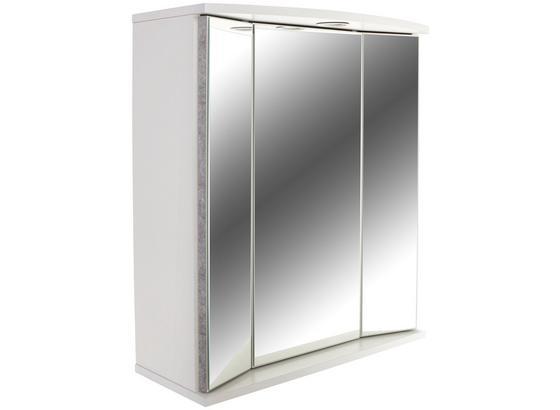 Skříňka Se Zrcadlem Verona - bílá, Konvenční, kompozitní dřevo/sklo (65/70/27cm)