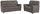 Sitzgarnitur Queenline 3er 198 cm/2er 146 cm - Schwarz/Grau, KONVENTIONELL, Holz/Holzwerkstoff (198/96/92cm) - James Wood