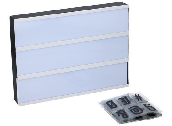 LED-Leuchtkasten Arta - Schwarz/Weiß, MODERN, Kunststoff (30/22/4,5cm) - Grundig